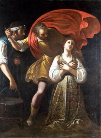 Mario Minniti - Martirio di S. Lucia