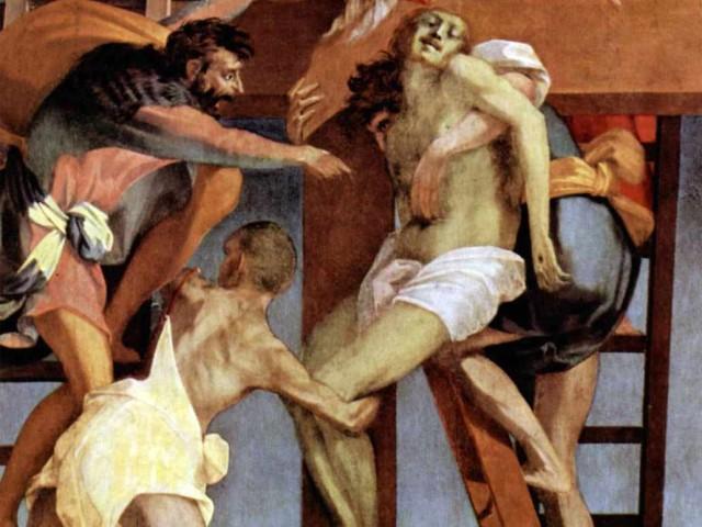 Rosso Fiorentino, Deposizione dalla croce (particolare)