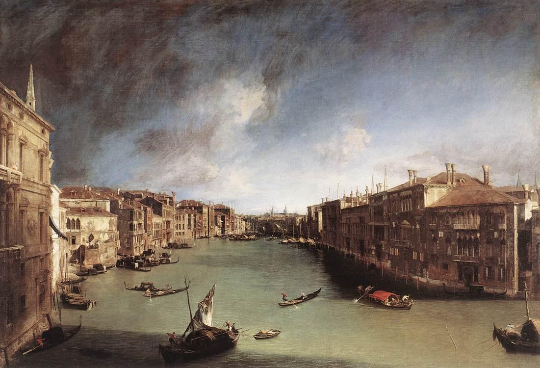 Canaletto, Il Canal Grande verso Rialto, 1723-24, olio su tela, 144x207 cm, Ca' Rezzonico, Venezia