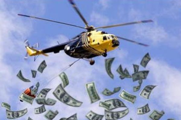 Helicopter Money: soldi lanciati dall'elicottero